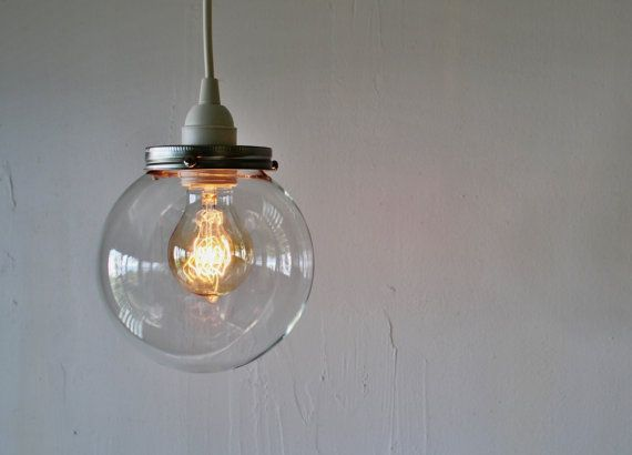 Unique Replacement Globes For Bathroom Light Fixtures: Hanging Light With A Clear