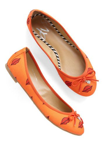 D.C. by Day Flat in Lips. Usher in the cherry blossoms by flaunting these printed flats from DV by Dolce Vita! #orange #modcloth
