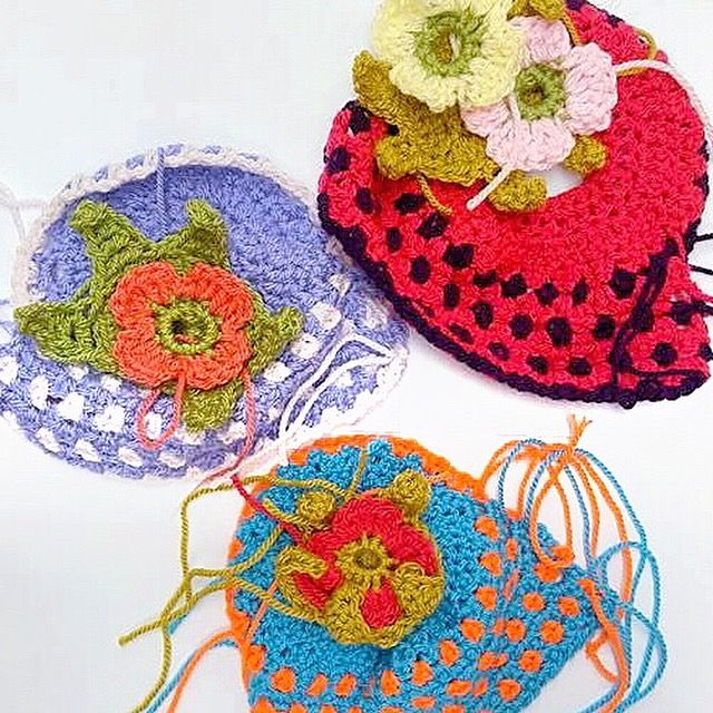 Our Improvers crochet course - tea cosies in the making...