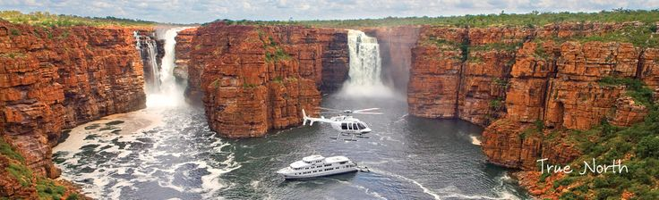 True North Cruises, Western Australia - the Kimberley coastline is truly one of the world's last great wilderness areas. Explore secluded beaches and river inlets – waters famous for an abundance of wildlife. See spectacular waterfalls and awe inspiring gorges, ancient cultural history and indigenous rock art.