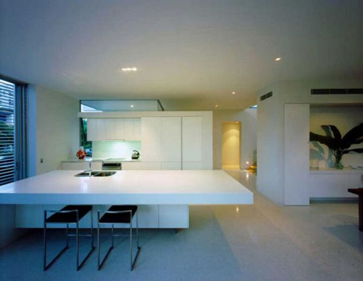 best inspiring minimalist home kitchens interior design for small modern apartment featuring cool white