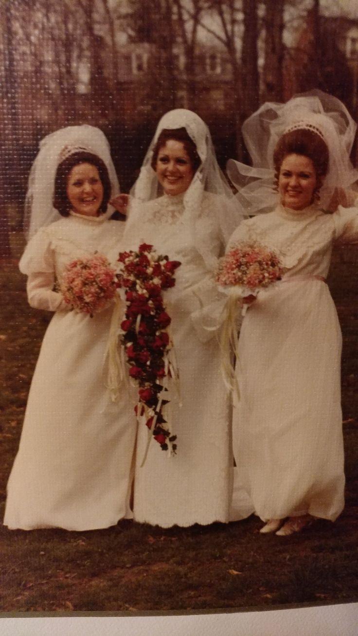 Aril6, 1974 wedding of Meta Murphy with fellow Pan Am flight attendants Carolyn Smith & Mary Ann Robinson Mercier