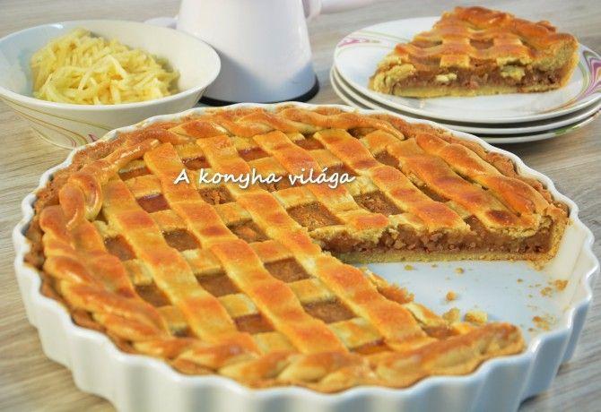 Rácsos almás pite ahogy A konyha világa készíti