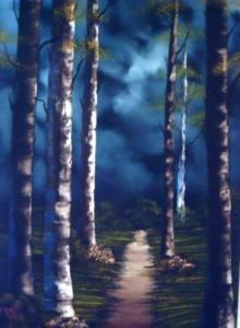 Wild Woods Oil on Canvas