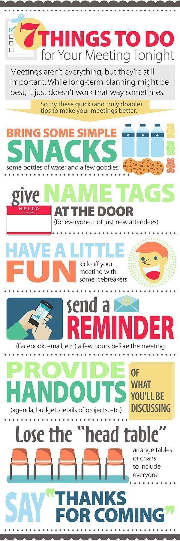 fundraising infographic : fundraising infographic : Infographic: Last-Minute Meeting Tips PTO Today