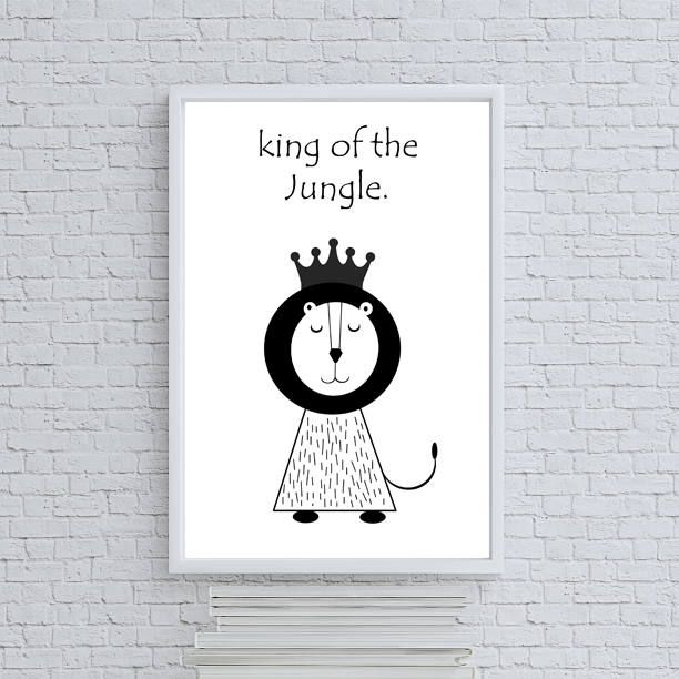 Lion King of the Jungle, Nursery decor, Nursery print, Nursery art, Kids room decor, Baby room decor, Baby shower gift, Baby by BenandMar on Etsy