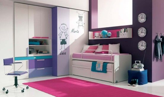 teen girl bedroom ideas - by Melina Divani  http://decoholic.org/2012/02/26/30-dream-interior-design-ideas-for-teenage-girls-rooms/  http://resourcefurniture.com