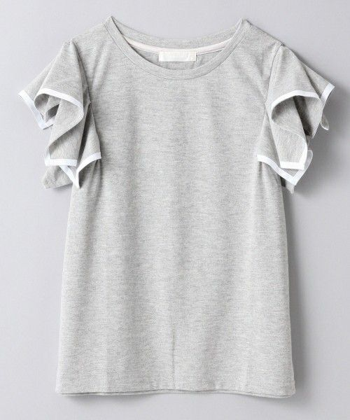 JEANASIS(ジーナシス)のソデフリルプルオーバーSS/565334(Tシャツ/カットソー)|グレー