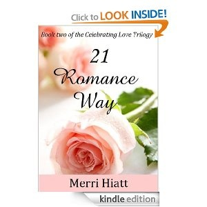 21 ROMANCE WAY (Book two of the Celebrating Love Trilogy)  The journey continues from 14 Love Letter Lane (Book one of the Celebrating Love Trilogy), as Darcy, Ginny and Andrea take Jim up on a generous business opportunity. Meanwhile, John's past sparks questions about his involvement with the fire at Revive and flames of a different kind sizzle between Darcy and Jim.
