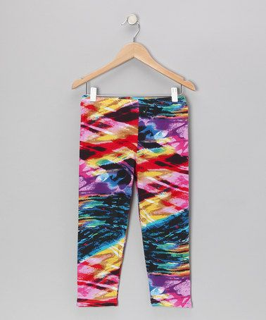 Fuchsia Stud Leggings - Girls   Daily deals for moms, babies and kids