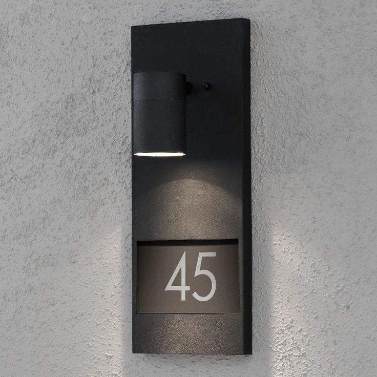 Wandleuchte Hausnummer Beleuchtung Außenleuchte Wandlampe Wand Lampe Leuchten