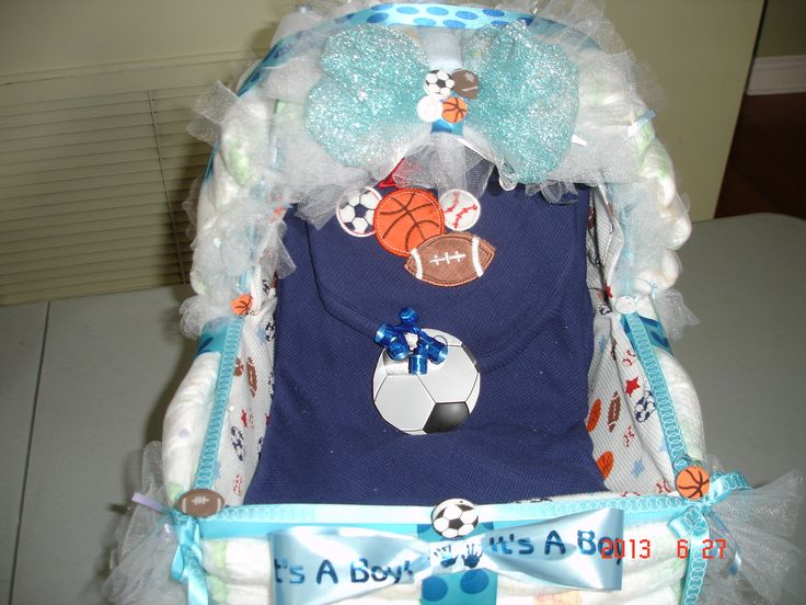 Sports Baby Shower Diaper Bassinet