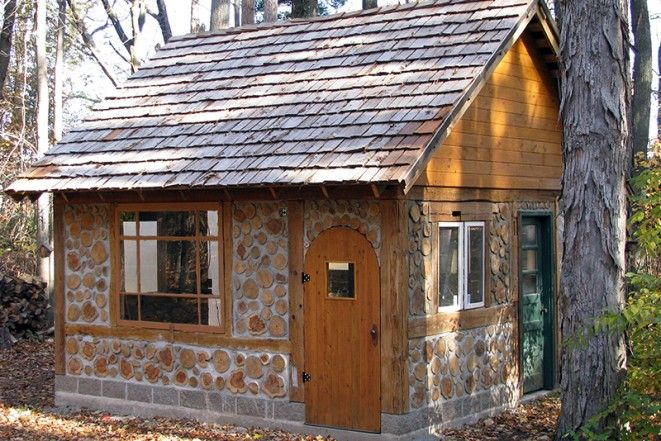 Build Your Own Budget Friendly Cordwood Cottage Sheds
