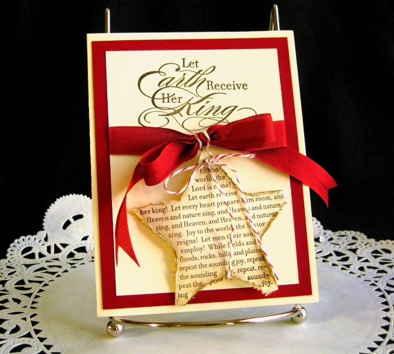 Christmas Card Handmade  Joy to the World on by PaperCraftLady, $4.75