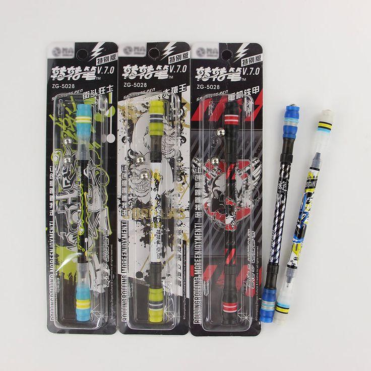 1 PC Hot Non Slip Coated Spinning Pen Champion Spinning Rolling Pen Ball Point Refill Matting Pen Finger Playing