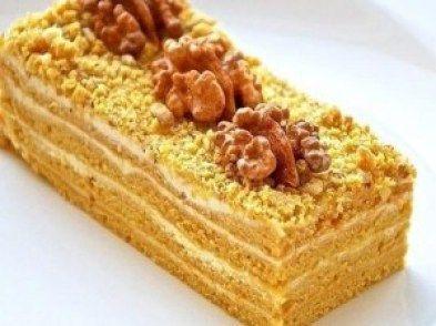 Prajitura cu nuca caramelizata