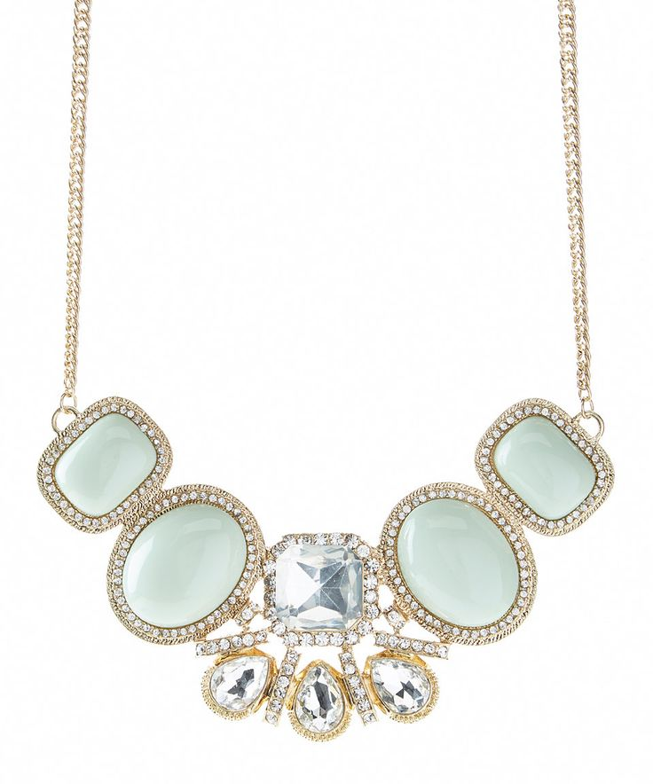 Another great find on #zulily! Mint & Gold Today Statement Necklace by Stella + Ruby #zulilyfinds