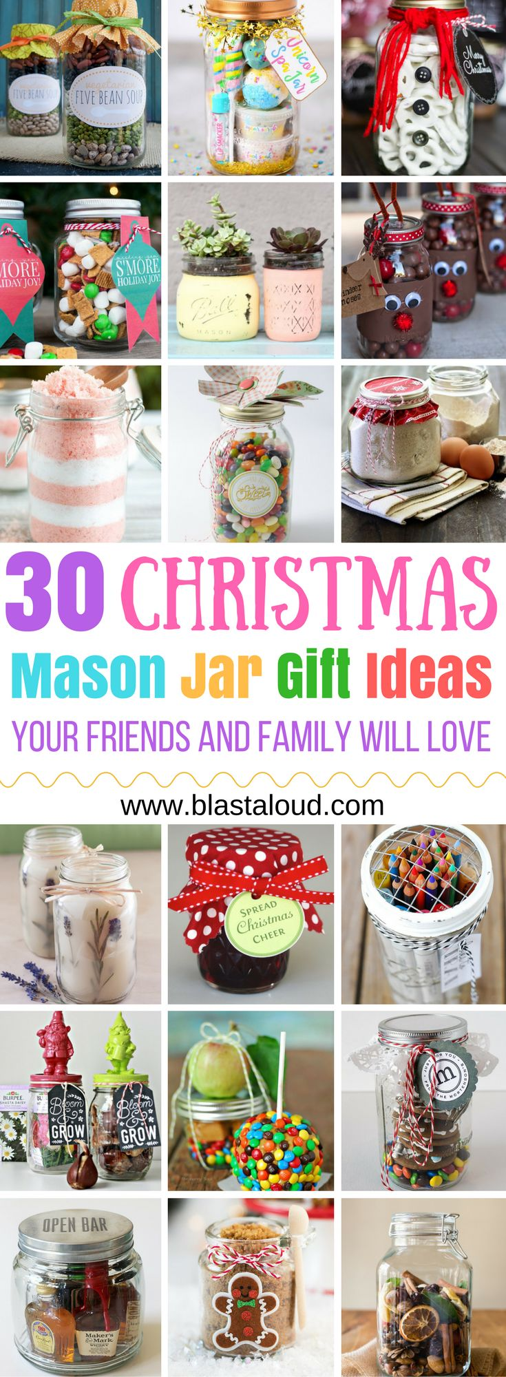 If you love making gifts for your family and friends you HAVE to try these! Soooo glad I found these amazing mason jar gift ideas for Christmas! Now I don't have to worry about what gifts to get for my family! #christmas #christmasgifts #masonjar #masonjargifts #giftideas #giftinajar