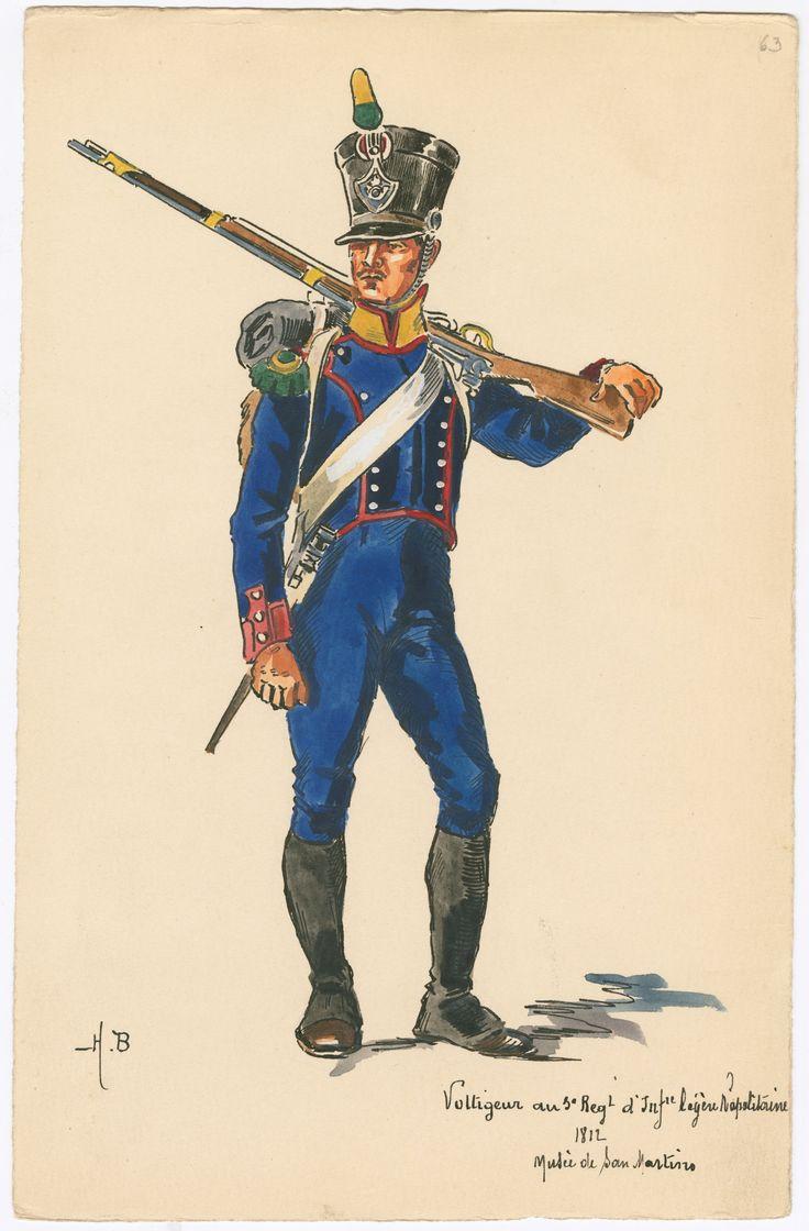 Kingdom of Naples, 3rd Light Infantry, Voltigeur 1812 by H.Boisselier