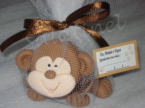Lembrancinha safari baleiro macaco reclinável - Salatinel lembrancinhas de…