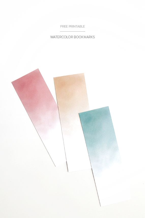 Watercolor bookmarks let you mark your place beautifully.