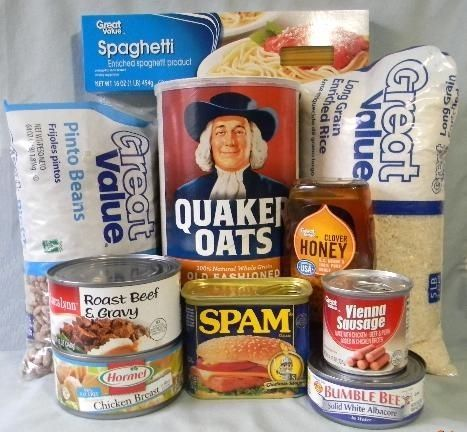 Super cheap food lists for emergency food supplies.