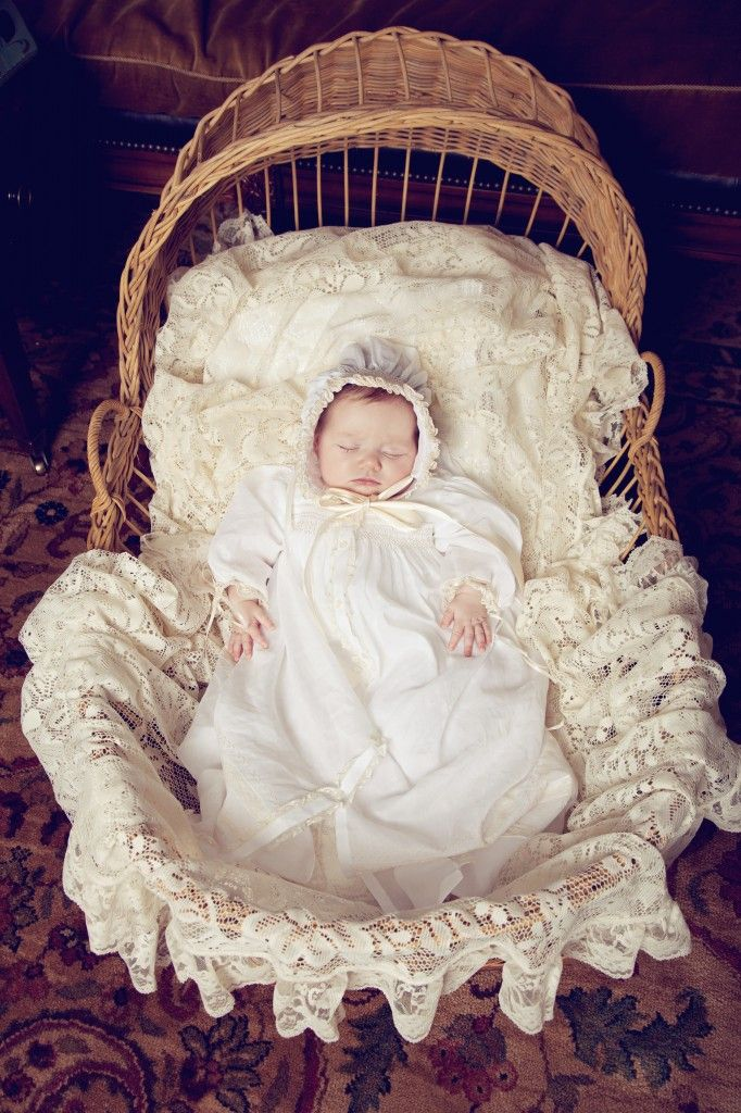 Lydia's christening gown made by my mom.