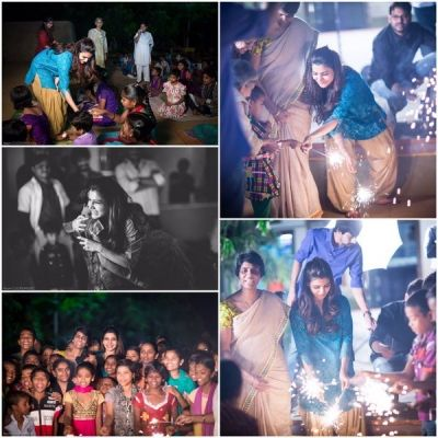 Samantha Celebrated Diwali with Desire Society Kids, Actress, Samantha Ruth Prabhu, Photos, 2015, Celebration, Deepavali, Latest, Recent