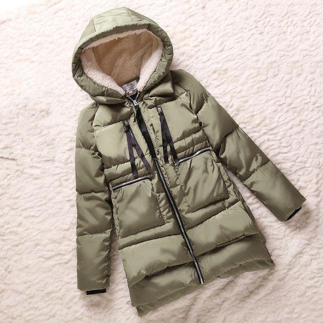 Winter Jacket Women 2016 New Europe Style Fashion Loose Medium Long Autumn Winter Plus Size Down Parkas Lady Coat Hot M0514