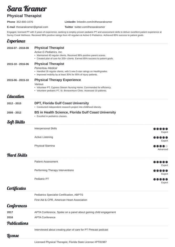 32+ Occupational therapy resume template free trends