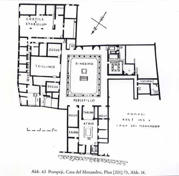 House Of Menander Roman Plans Roman To Gothic