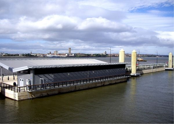 Liverpool cruise terminal in the sunshine