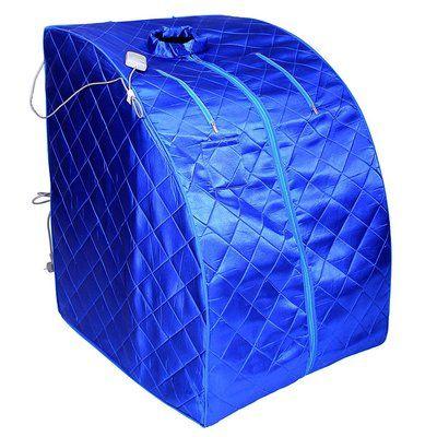 Aleko Personal Folding Portable Home 1 Person Carbon FAR Infrared Sauna Color: Blue