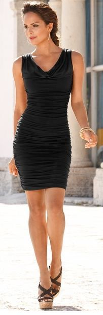 Boston Proper ruched cowl dress - Like the dress but need to lose weight to wear something like this! :-)