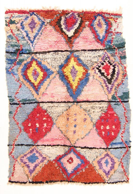 Marokkaanse Berber tapijt Boucherouite 215 x 145 cm