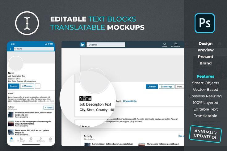 Linkedin Personal Profile Mockup Mockup Photoshop Design Facebook Event
