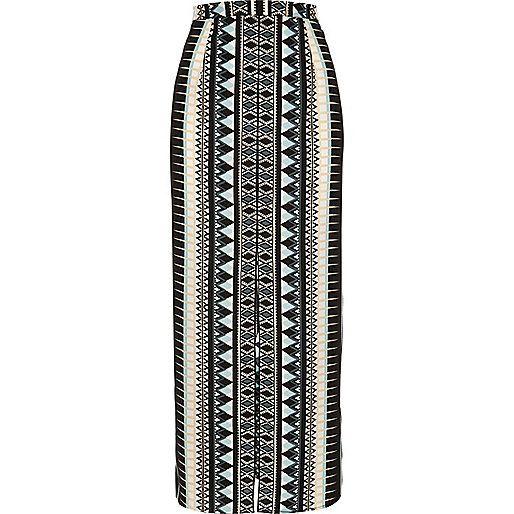 Black diamond print maxi skirt - maxi skirts - skirts - women