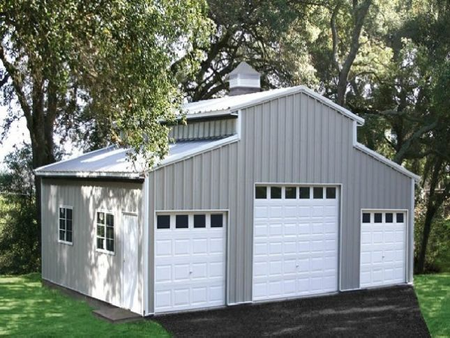 25 best ideas about steel garage on pinterest metal for Mobile home garage kits