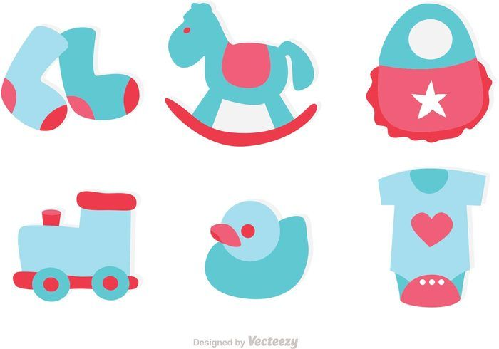 Free vector Baby Toys Icons Vector #22363