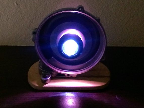 Led Lamp built of a car's turbo by InnyDecor on Etsy