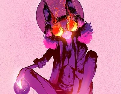 """Check out new work on my @Behance portfolio: """"Synthwave Bastet"""" http://be.net/gallery/54159551/Synthwave-Bastet"""