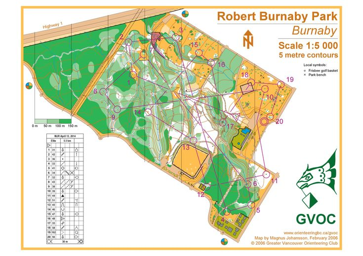 April 13th 2014 10:00am - Robert Burnaby Park Junior Festival -  Elite course