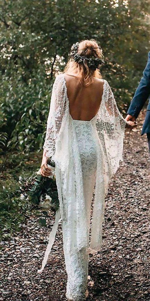 Amazing Boho Wedding Dresses With Sleeves ★ See more: https://weddingdressesguide.com/boho-wedding-dresses-with-sleeves/ #bridalgown #weddingdress