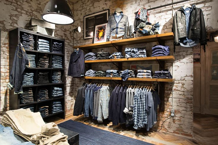 Low Rack With Two Shoppable Upper Shelves + Book Case. Denim & Supply Stockholm