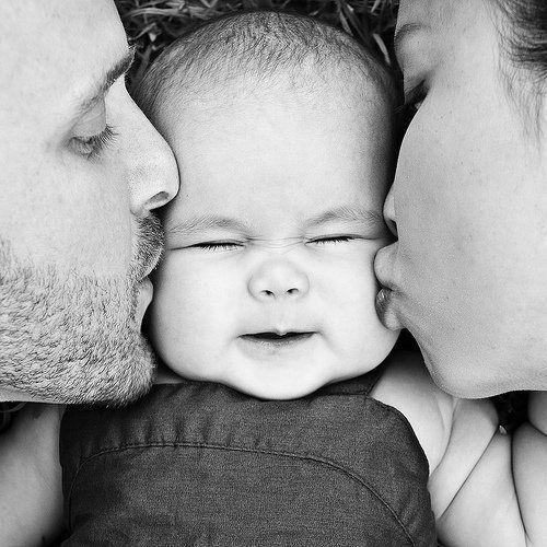 Family kiss