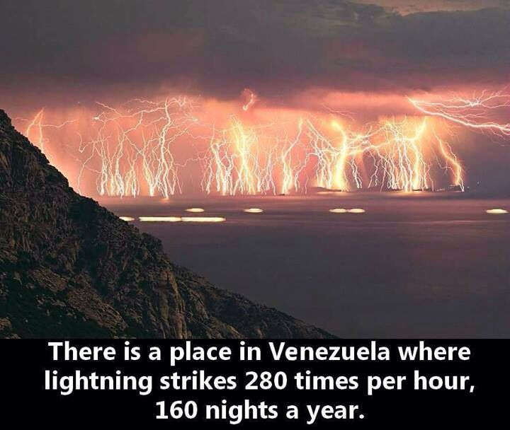 Catatumbo everlasting lightening storm!