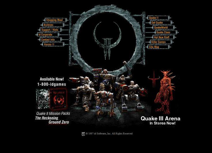 id Software website in 1998