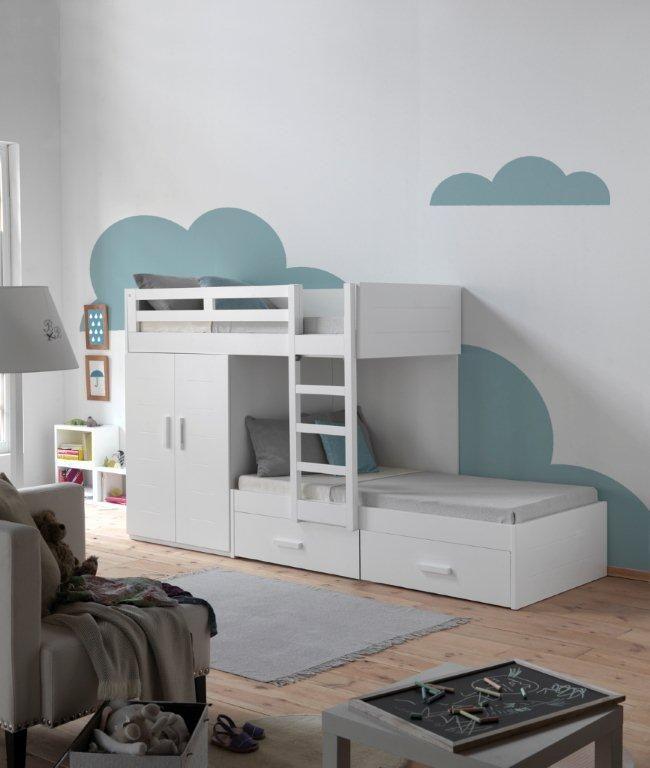 M s de 1000 ideas sobre literas infantiles en pinterest - Habitacion con literas ...