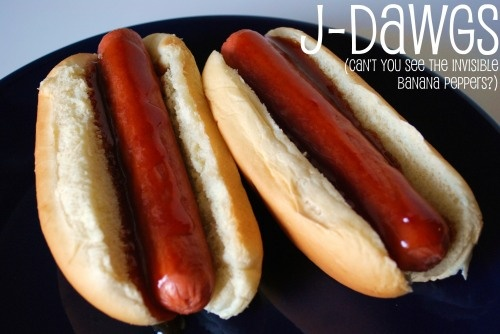J-Dawgs Special Sauce --       3/4 cup ketchup      3/4 cup brown sugar      1/4 cup honey      1 tsp. cider vinegar      1 tsp. soy sauce      1/2 tsp. onion powder        Combine ingredients in a saucepan & heat just to boiling on medium heat.      Drizzle over your favorite grilled Polish or beef hot dog on the best hot dog roll you can find.       Top with your favorite hot dog condiments