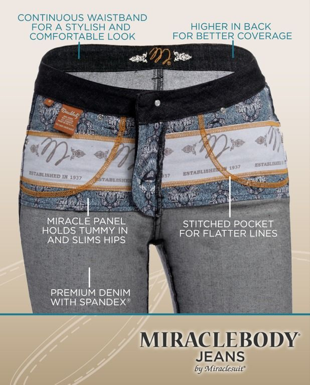 Hidden help from Miraclebody Jeans!